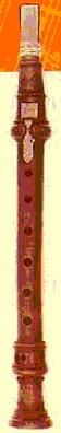chalumeau del siglo XVII clarinete antiguo de la época de Mozart. Clarinete clásico