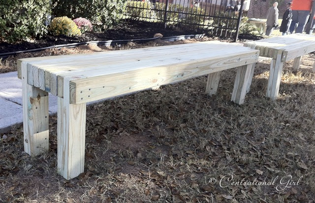 Centsational Girl » Blog Archive » Building Benches + The Gift of Good
