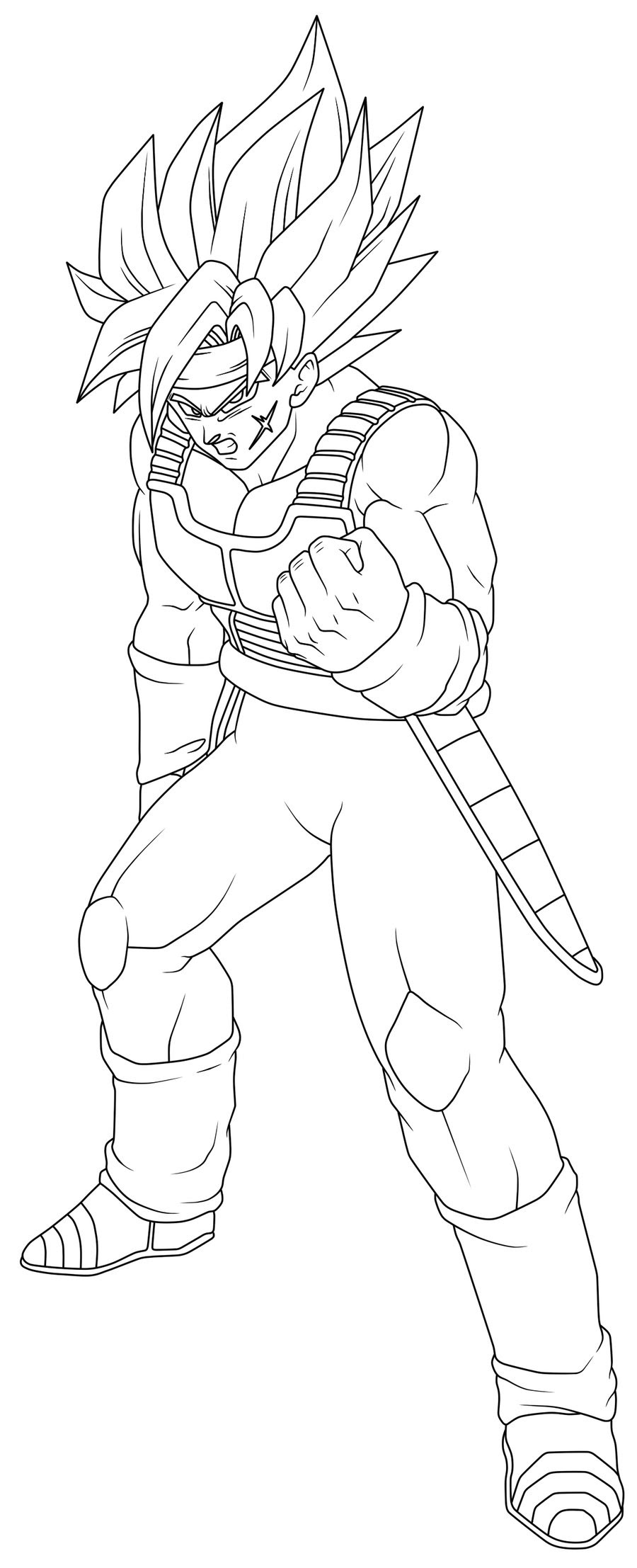 Dragon Ball Z Coloring Pages Bardock At Getdrawingscom Free For