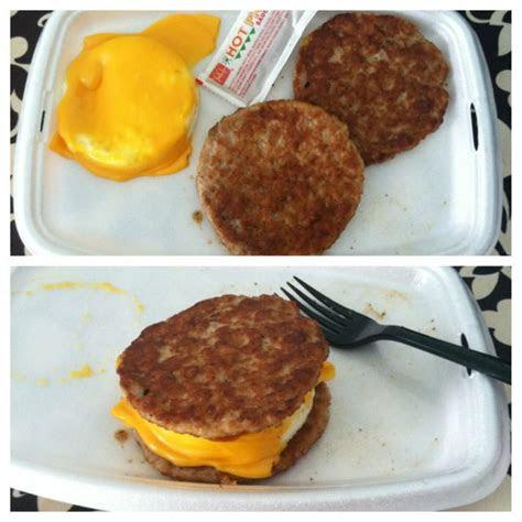 carb breakfast sandwich  mcdonalds  sausage