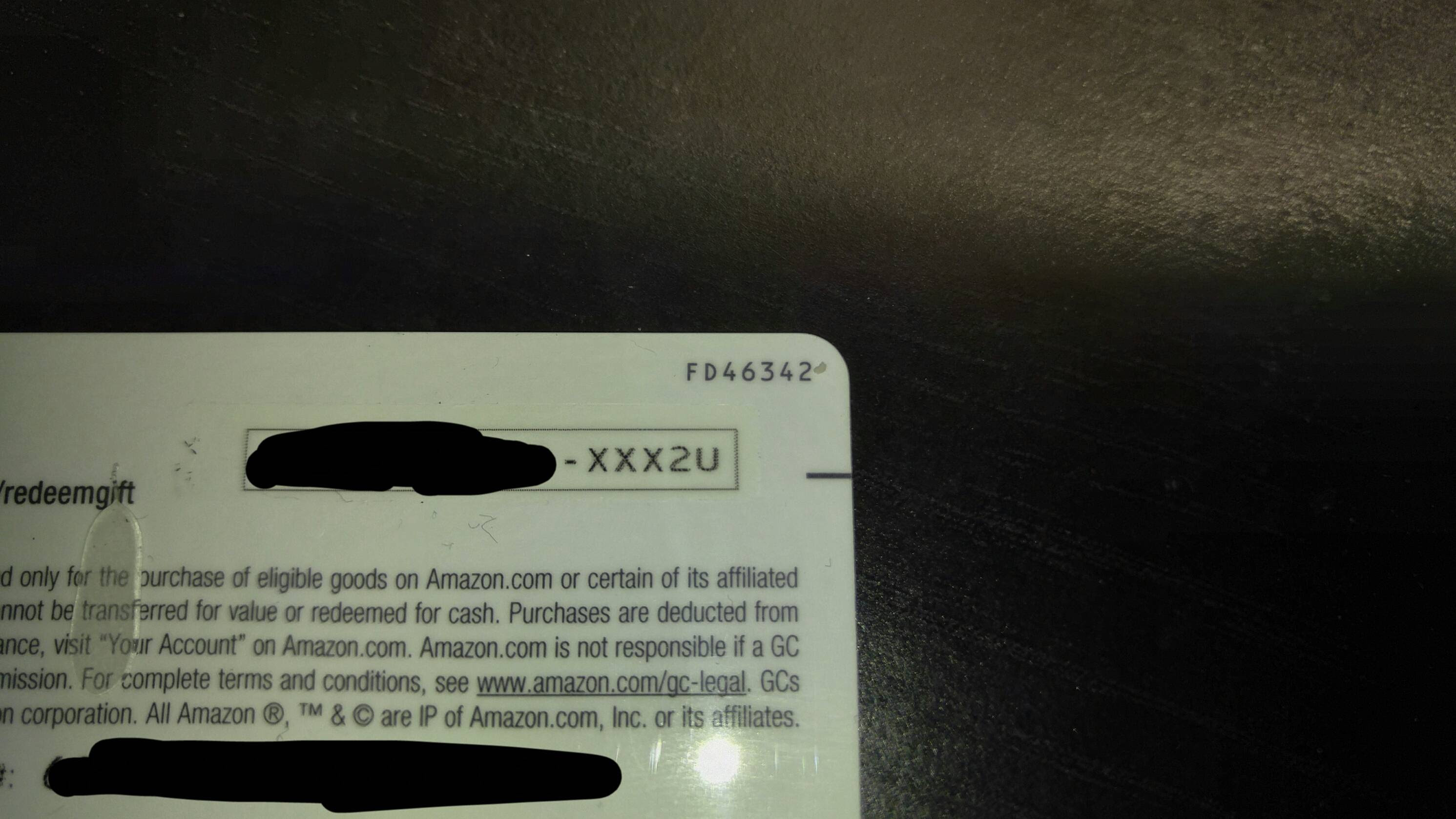 One Of My Amazon Gift Cards Had A Very Sexy Message Mildlyinteresting