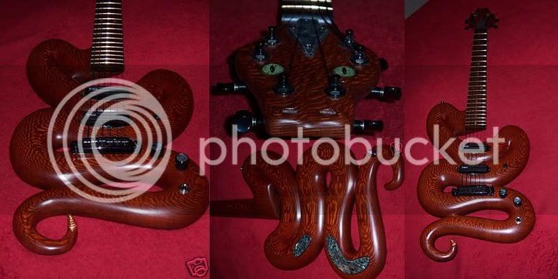 guitar blog scary snake guitar. Black Bedroom Furniture Sets. Home Design Ideas