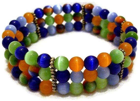 Beaded Cuff Bracelet - Cats Eye Jewelry