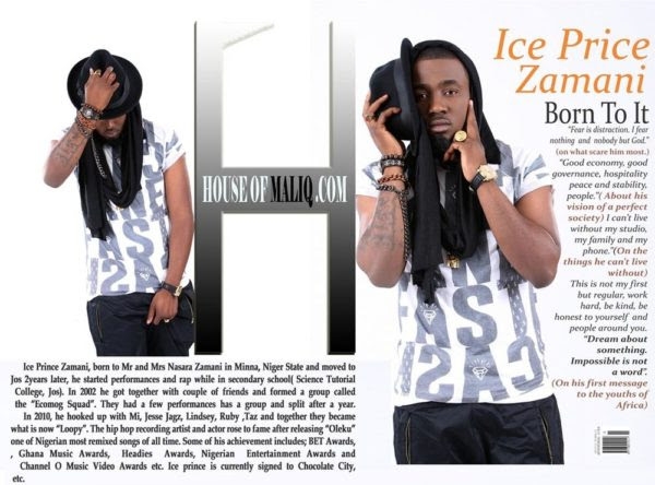 Ice Prince ,September - 2014- Mgazine- Houseofmaliq 9