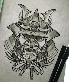 Samurai Mask Drawing At Getdrawingscom Free For Personal Use