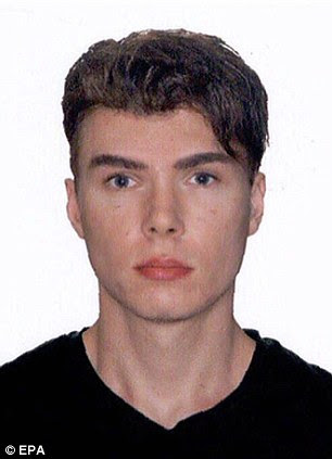 Under arrest: Suspected killer Luka Magnotta was finally tracked down to an internet cafe in Berlin