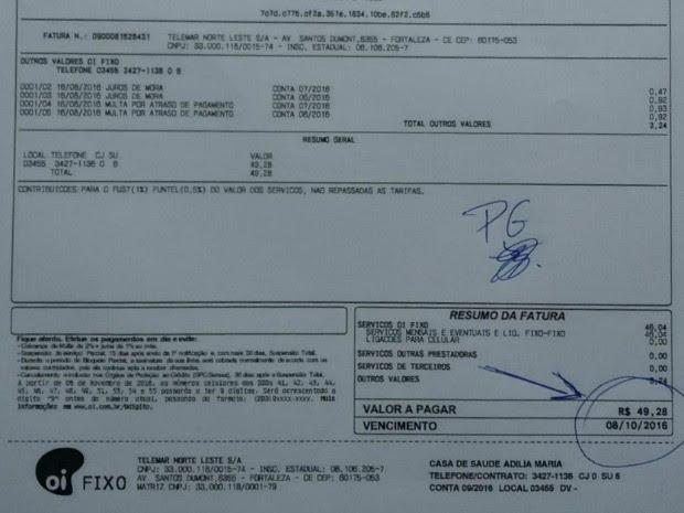 Cansado de esperar, paciente pagou contas de telefone de hospital no Ceará (Foto: Ernandes Sousa/Arquivo pessoal)
