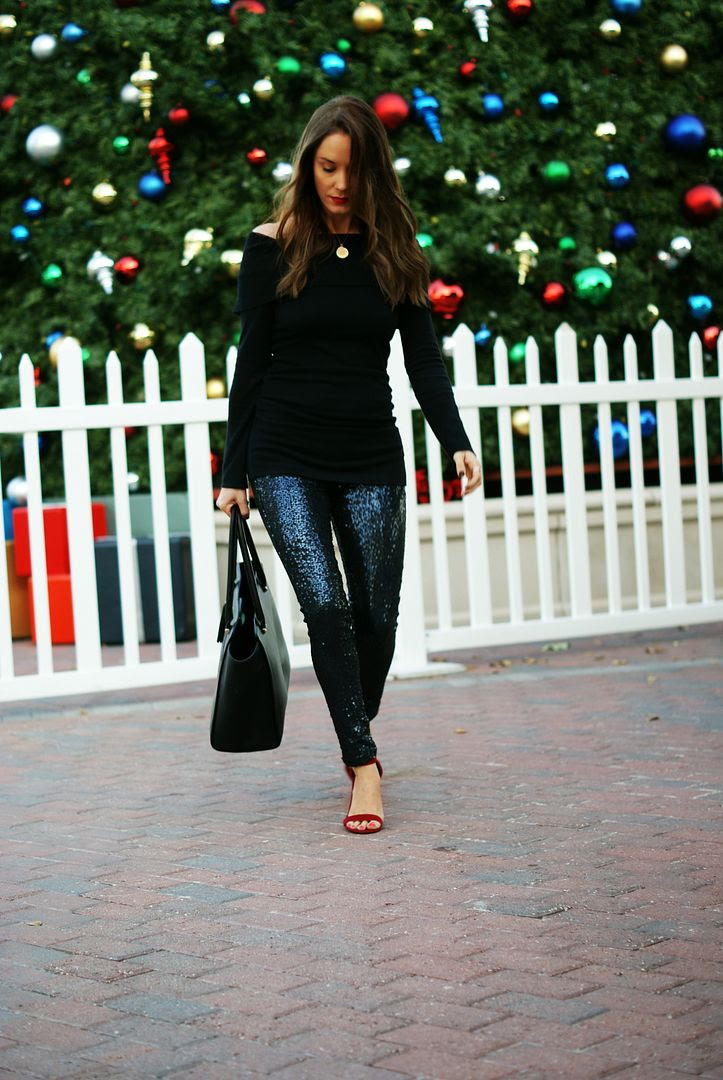 Sequin Leggings Outfit