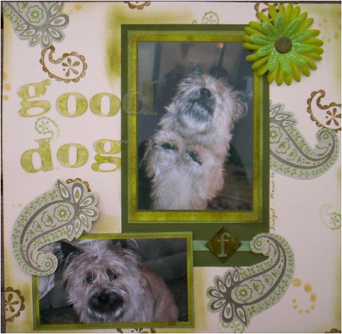 Good Dog - green paisley