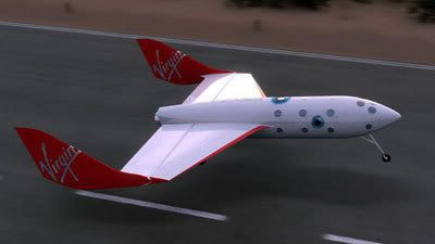 An artist's concept of SPACESHIPTWO.