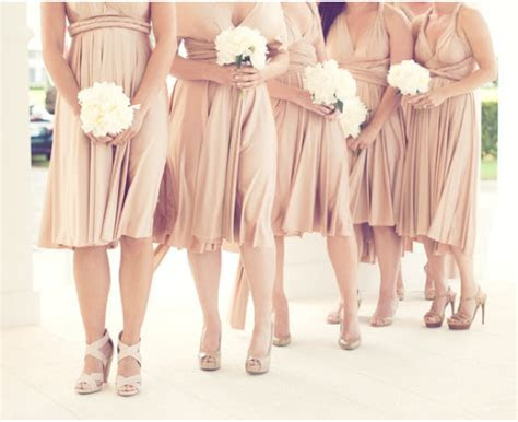 What Color Heels w/ Champagne Bridesmaid Dress for Our