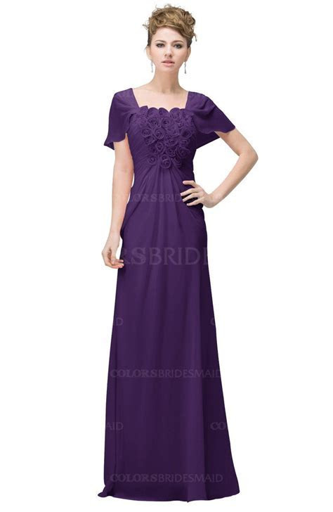 Pansy Casual A line Square Short Sleeve Floor Length Plus