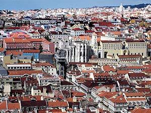 Vista general de la zona reconstruida en Lisboa tras el terremoto. (Foto: EFE)