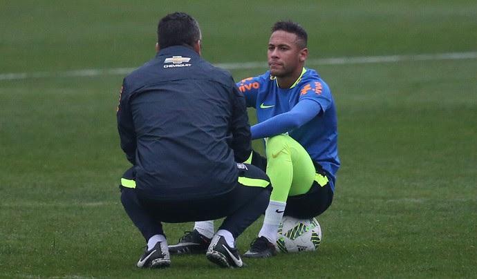 Neymar treino seleção olímpica Granja Comary (Foto: Lucas Figueiredo/MoWA Press)