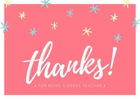 Customize 38  Teacher Thank You Card templates online   Canva