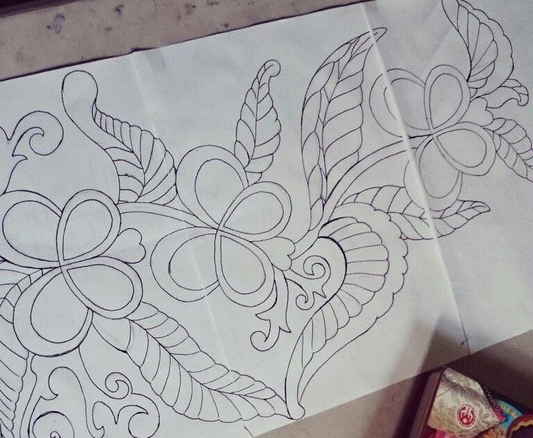 Sketsa Gambar Batik Lumajang