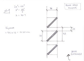 TechDrawing for Wood Divider