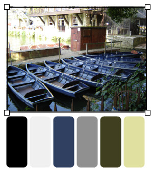 Punts for hire by Head of the River 34_palette