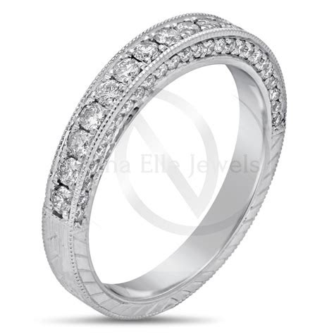 antique style  sided  cut pave set diamond