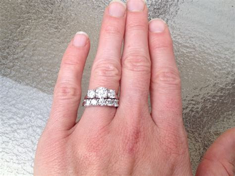 Wedding Bands for a Three Stone Oval Ring