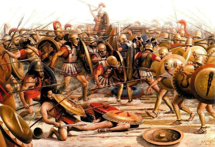 Η Μάχη των Λεύκτρων. Φανταστική απεικόνιση