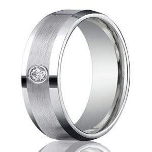 mm mens  platinum single diamond wedding ring