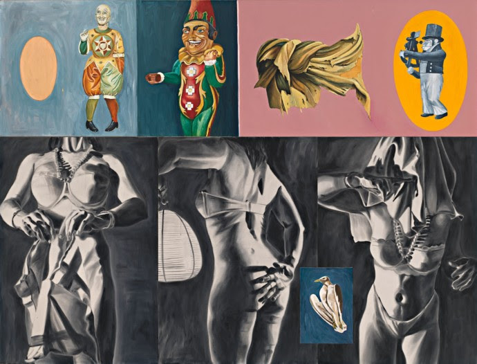 """Chilled suggestiveness: David Salle's """"Sextant in Dogtown"""" (1987)."""