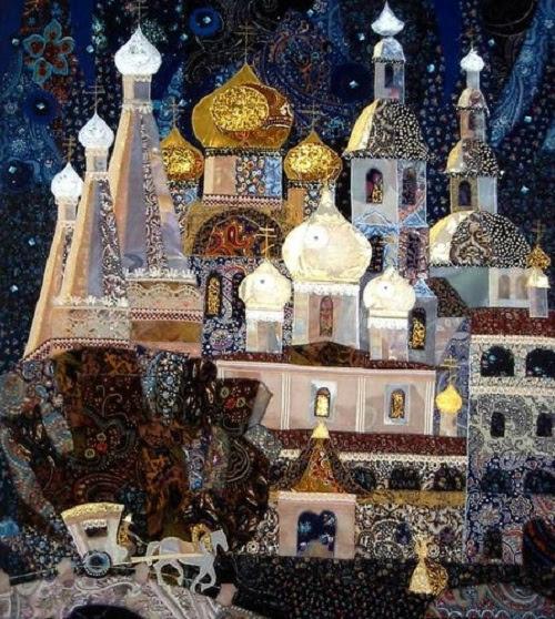 collage textile par Valentina Maximova