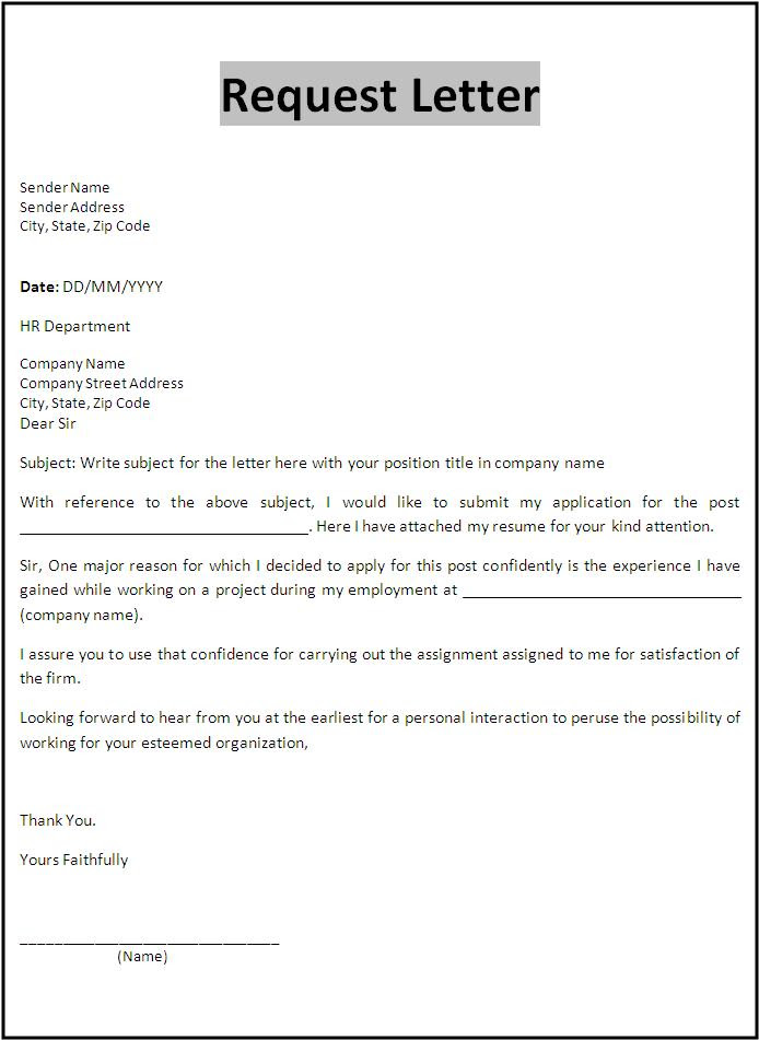 Request letter format sample write your own business plan proposal