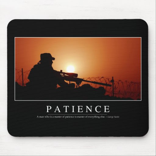 Patience: Inspirational Quote Mouse Pad  Zazzle