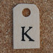 Wooden Tag K