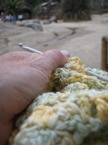fibre friday: portable crocheting