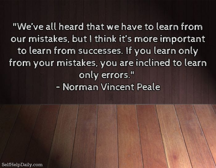 Quote About Learning From Our Mistakes Self Help Daily