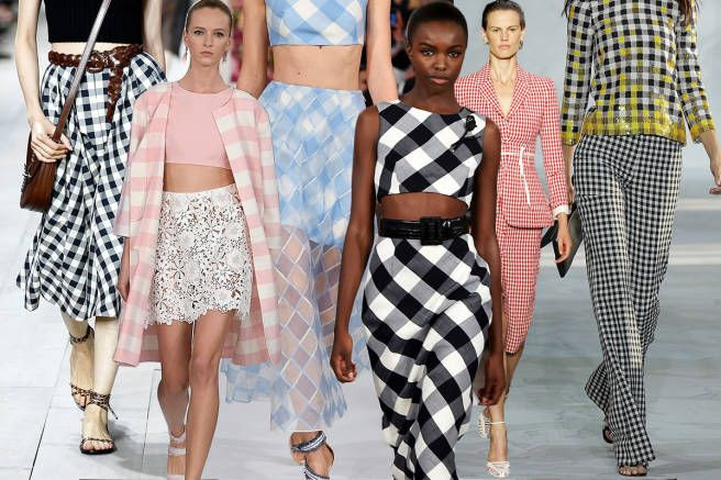 We're calling it now: Gingham is the print of spring 2015. Michael Kors, Oscar de la Renta, and Altuzarra all agree. Check (pun intended) it out.