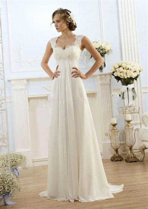 Plus size empire waist wedding dress   PlusLook.eu Collection