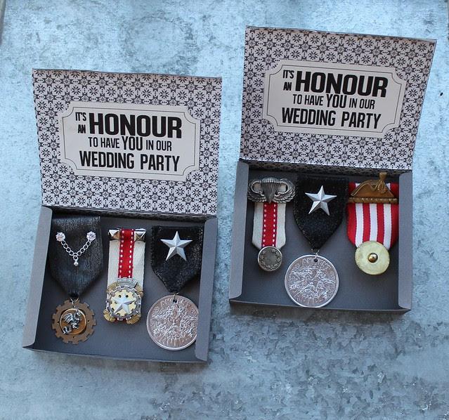 DIY Medal Boutonnieres