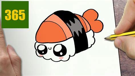 disegnare sushi kawaii passo dopo passo disegni