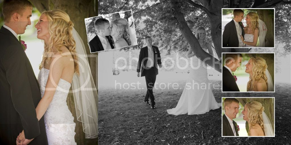 First Look Wedding Album Page