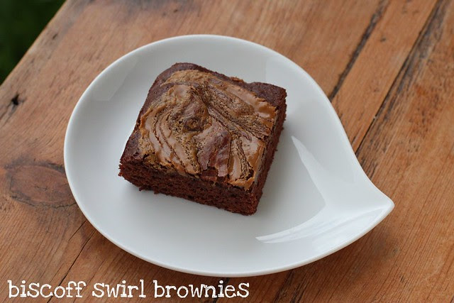 Biscoff Swirl Brownies