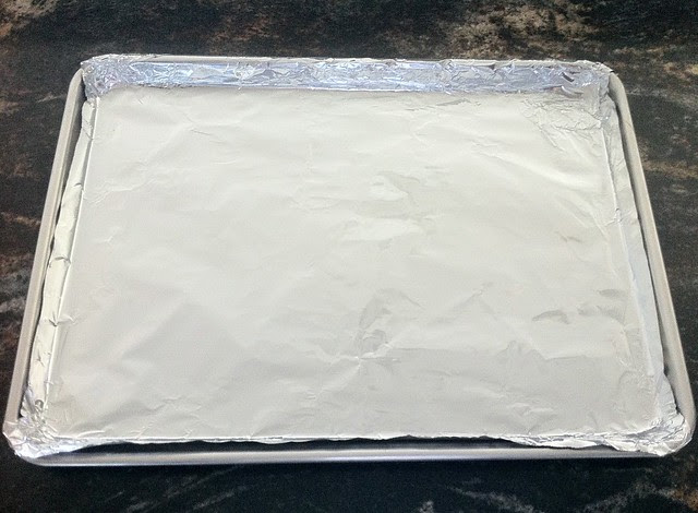 Foil Lined Baking Sheet