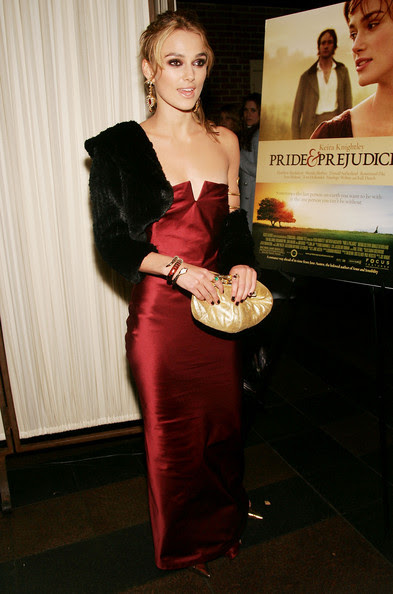Actress Keira Knightley attends the 'Pride & Prejudice' premiere after