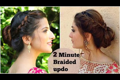 Messy Side Bun Hairstyles For Indian Wedding