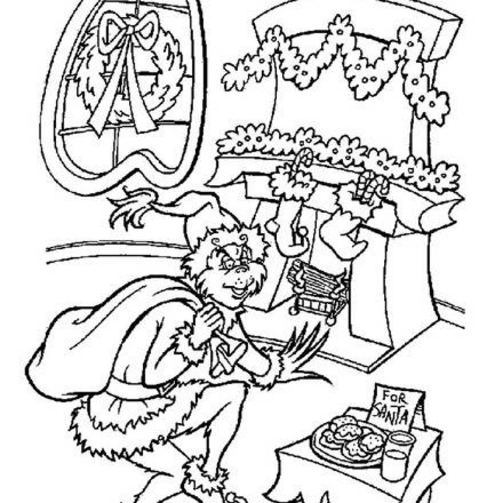 The best free Grinch coloring page images. Download from ...