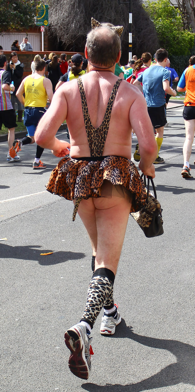 Fancy dress costume at the 2012 Virgin London Marathon
