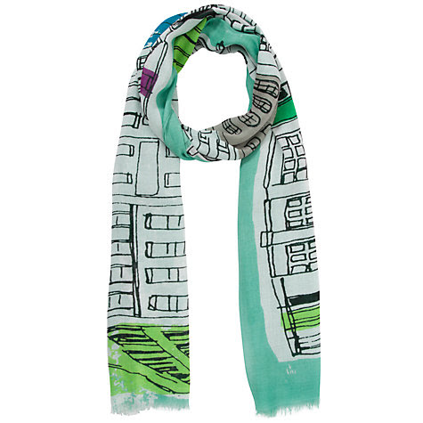 Buy John Lewis 150 Years Celebration Line Drawn Street Scene Scarf, Multi Online at johnlewis.com