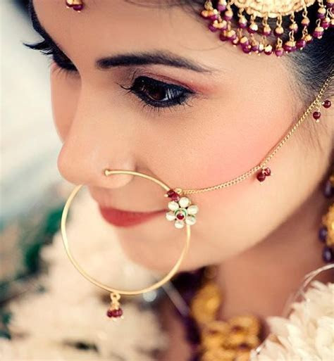 The ?Nosy? Affair : Bridal Nose Pins Designs of 13