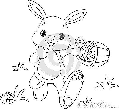 easter bunnies and eggs. EASTER BUNNY HIDING EGGS