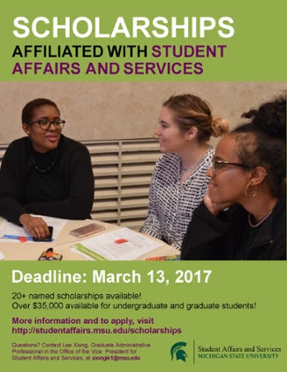 Scholarships Affiliated with Student Affairs and Services ...