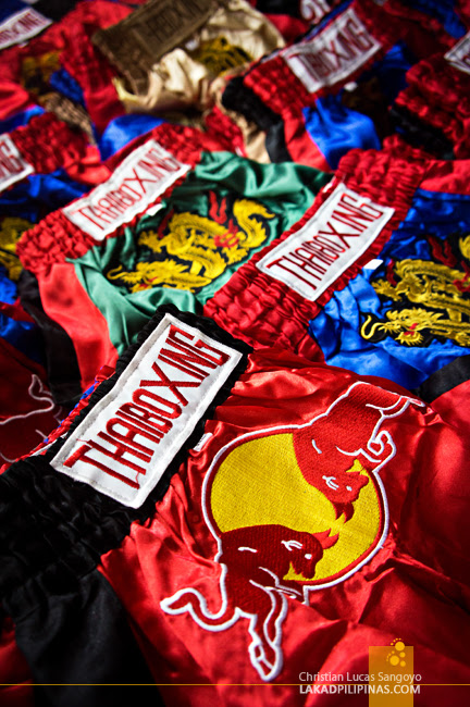 Thai Boxing Shorts Souvenirs from Phuket, Thailand