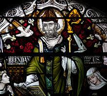 Birr St. Brendan's Church St. Brendan Window 2010 09 10.jpg